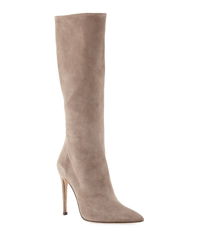 Porto Suede Stiletto Knee Boots
