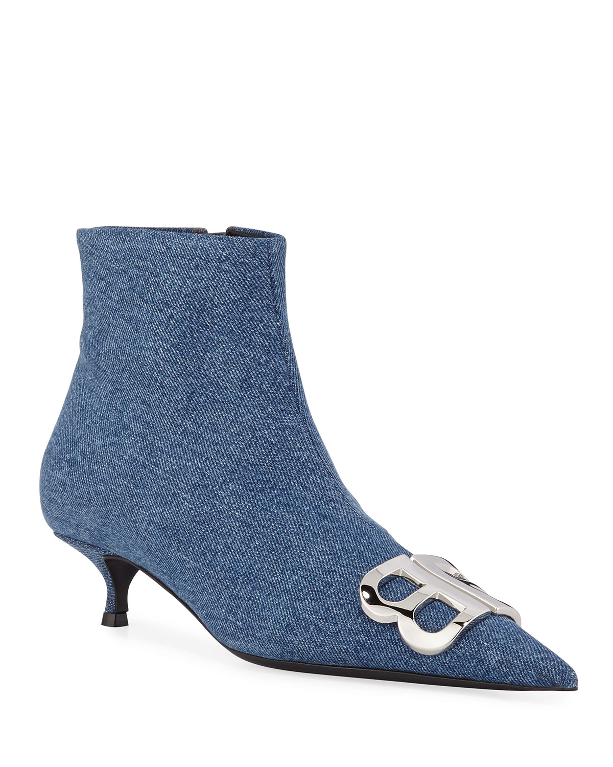 BB Denim Ankle Booties
