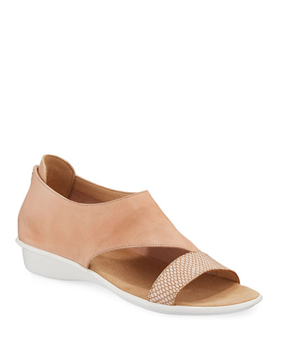 Elen Comfort Leather Sneaker Sandals, Blush