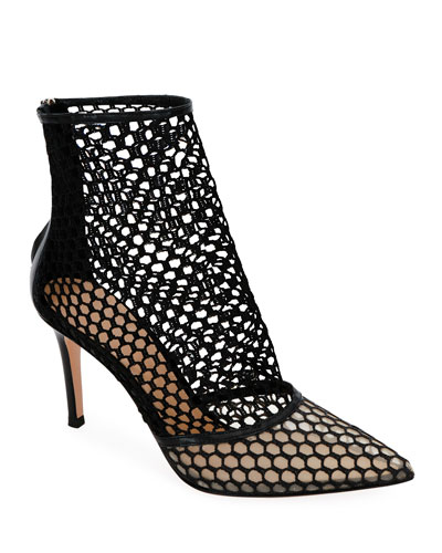 2e1c55517375 Quick Look. Gianvito Rossi · Fishnet High-Heel Booties. Available in Black