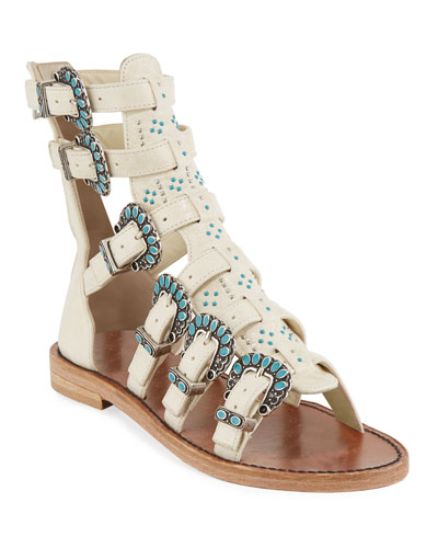 Capri Embellished Gladiator Sandals