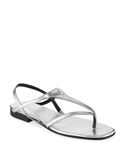 Dillon Metallic Leather Sandals