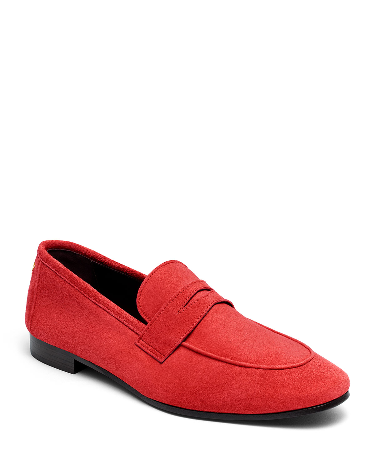 Flaneur Suede Penny Loafers