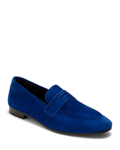 Flaneur Suede Flat Loafers