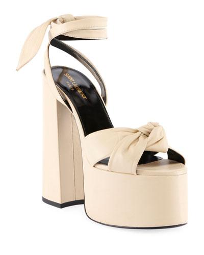 aa44bcdc4156 Quick Look. Saint Laurent · Paige Knotted Platform Sandals