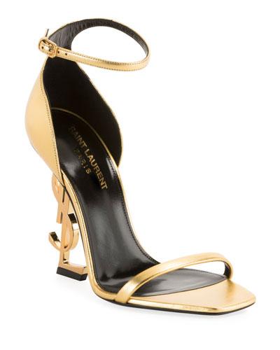 cc8b7296490e Quick Look. Saint Laurent · Opyum YSL Logo-Heel Sandals