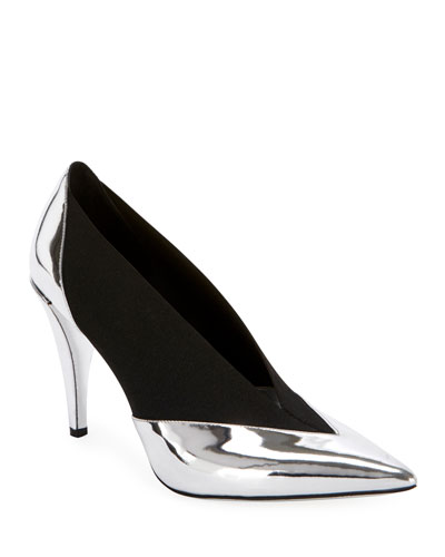 Show Stretch Metallic Pumps