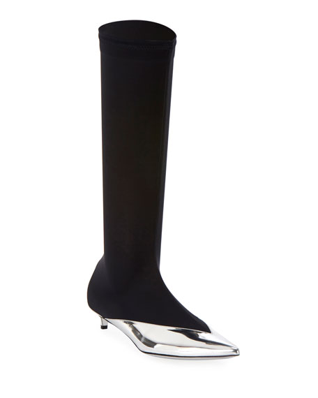 Givenchy Show Stretch Mid-Calf Boots