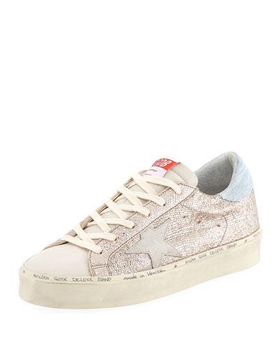 Hi Star Metallic Leather Sneakers