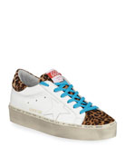 Golden Goose Hi Star Leather & Leopard Platform