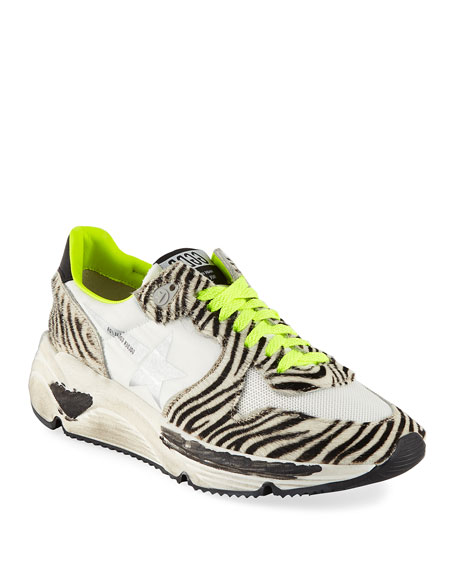 Golden Goose Zebra-Print Running Sneakers
