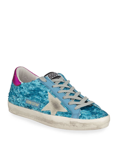 Golden Goose Sequined Superstar Low-Top Sneakers