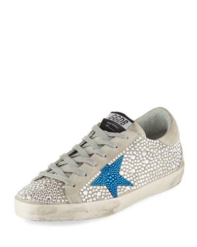 Crystal Superstar Low-Top Sneakers