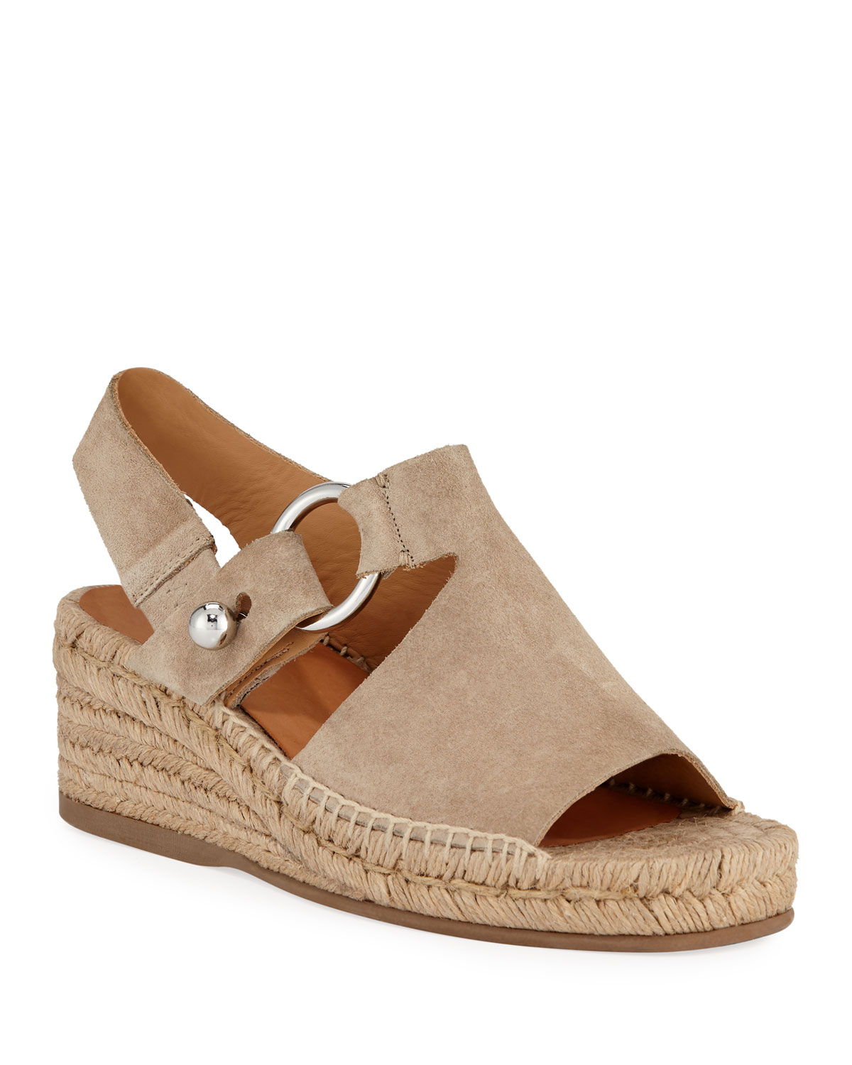 Arc Suede Wedge Espadrilles