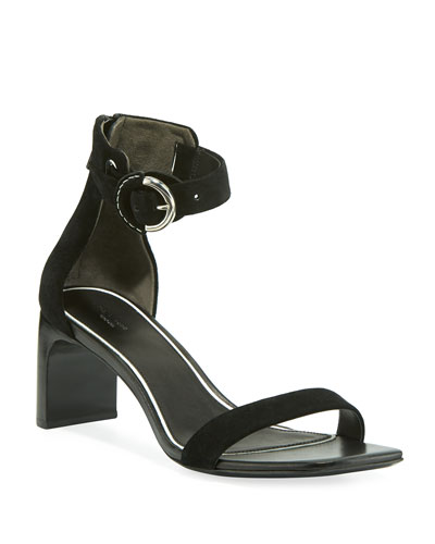 Ellis Suede Ankle-Strap Sandals