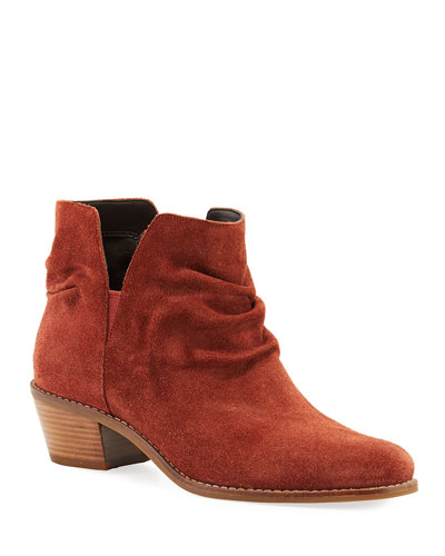 Alayna Slouchy Suede Booties