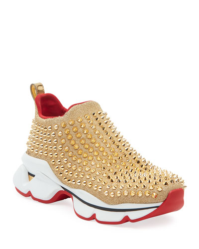 Spike Sock Red Sole Sneakers