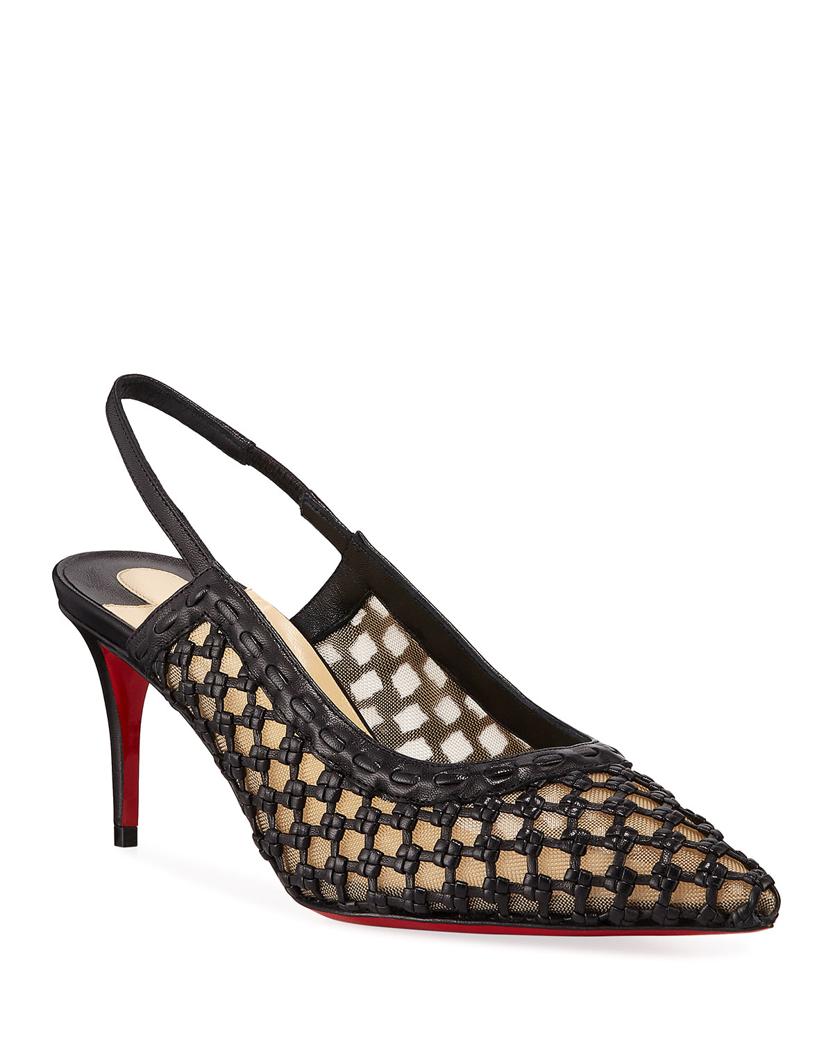 Cage Slingback Red Sole Pumps