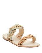 Christian Louboutin Normandie Flat Red Sole Sandals