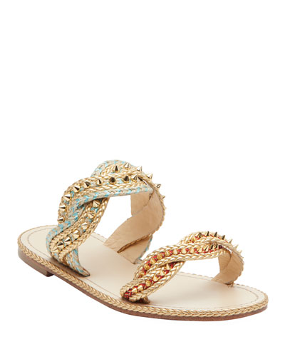 Normandie Flat Red Sole Sandals