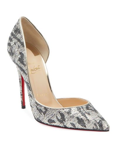 Iriza Metallic Leopard Red Sole Pumps