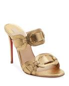 Christian Louboutin Balistra Specchio Red Sole Slide Sandals