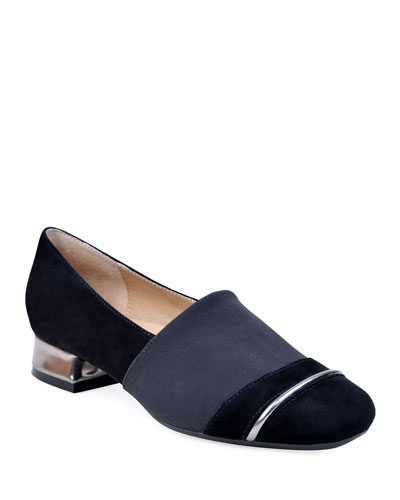 Gobi Stretch-Suede Loafers