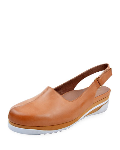 Taye Leather Slingback Clogs