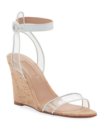 Minimalist Sandal Wedges w/ Illusion Straps