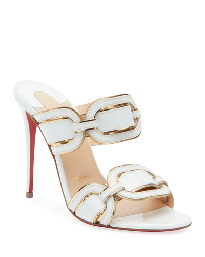 Balistra Piped Red Sole Slide Sandals