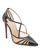 Christian Louboutin Theodorella Strappy Red Sole Pumps