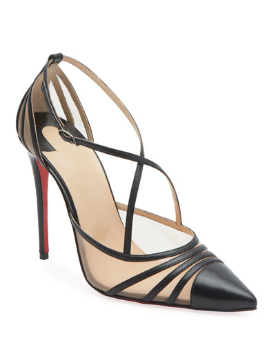 Theodorella Strappy Red Sole Pumps