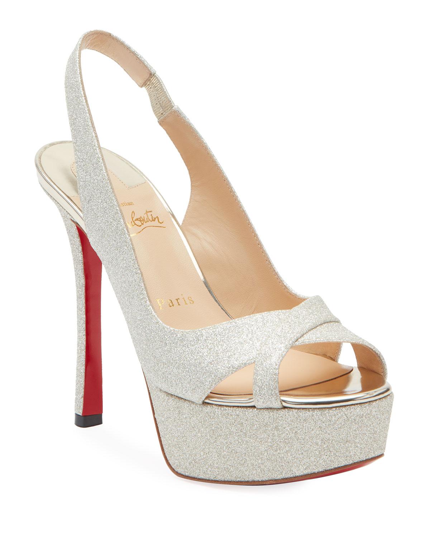 Postdam Glitter Platform Red Sole Sandals