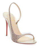 Christian Louboutin Optisling Glitter Red Sole Sandals