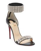 Christian Louboutin Priydora Napa Spike Red Sole Sandals