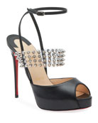 Christian Louboutin Levita Girl Platform Red Sole Sandals