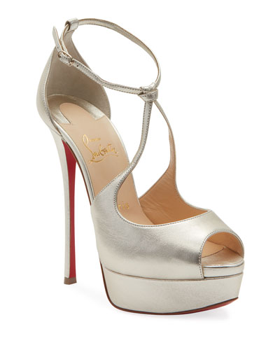 Alminalta Metallic Red Sole Sandals