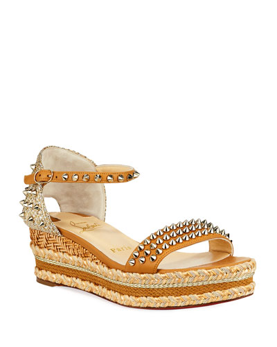 Mad Monica Platform Red Sole Wedge Espadrilles