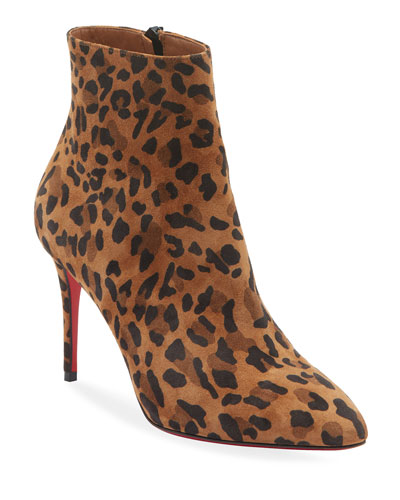 Eloise Leopard Red Sole Booties
