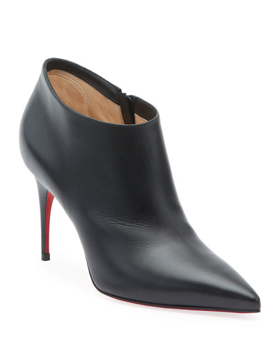 Gorgone 85 Leather Red Sole Booties