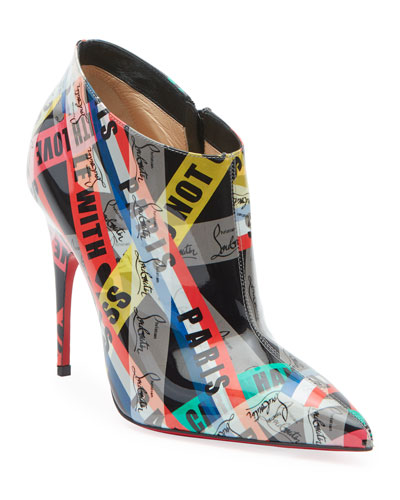 Gorgone Printed Patent Booties