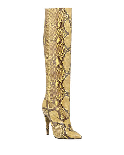 Abbey Python Knee Boots