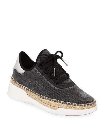 Finch Metallic Wedge Espadrille Sneakers