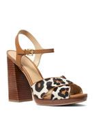 MICHAEL Michael Kors Alexia Leopard-Print Calf Hair Platform