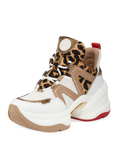 Olympia Leather Chunky Trainer Sneakers