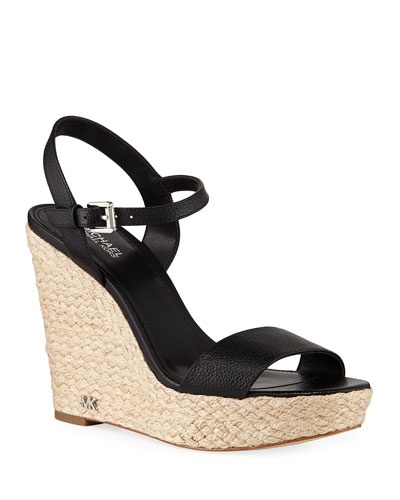 a00009483d254 Quick Look. MICHAEL Michael Kors · Jill Tumbled Leather Wedge Sandals.  Available in Black