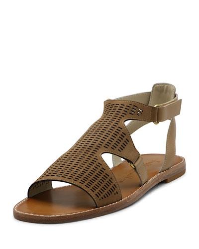 Kurt Perforated Flat Sandals