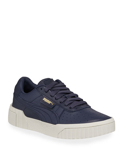 Cali Low-Top Embossed Leather Sneakers