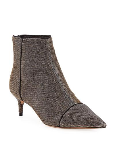 Kittie Metallic Shimmer Ankle Booties