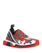 Dolce & Gabbana Geranio Sorrento Stretch Sneakers